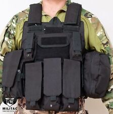 Black Tactical Padded Airsoft Paintball Molle Combat Assault Vest /Military Vest