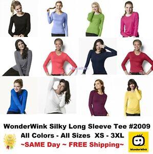 Wonder Wink Nurse Silky Long Sleeve Layer Tee 2009 >NEW< ~Free Same Day Shipping