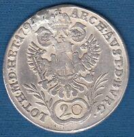 20 Kreuzer 1794. G - Franz II, Austria - Habsburg  silver coin !