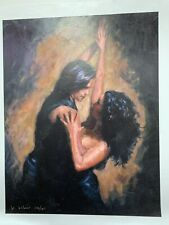 """LAST DANCE"" BY W. SILVANO- EMBELLISHED LTD. ED. GICLEE ON CANVAS SIGNED 170/195"