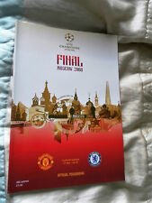 2008 AND 2009 CHAMPIONS LEAGUE FINAL MANCHESTER UNITED V CHELSEA BARCELONA