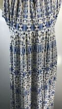 Cynthia Rowley Womens Size Large Maxi Dress Sleeveless Spaghetti Strap Stretch