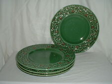 4 American Atelier Holly Berry Dinner Plates