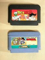 Dragon Ball 1 and 3 Gokuden fc Famicom Nintendo NES Japanese Bandai From Japan