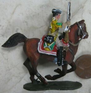 Vintage 1930's Solid Cast Lead Mounted Soldier Stadden #1