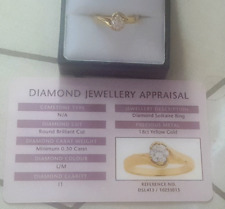 18ct Gold 0.50ct Diamond Solitaire Engagement Ring..As New