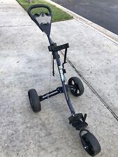 Intech Tri Trac 3 Wheel Folding Golf Push Pull Cart Used
