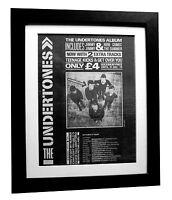THE UNDERTONES+Debut LP+Teenage+POSTER+AD+ORIGINAL+1979+FRAMED+FAST GLOBAL SHIP