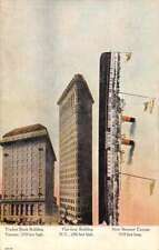 New Steamer Cayuga Flat Iron Building Traders Bank Antique Postcard J74985