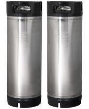 Set Of 2 Kegco 5 Gallon Home Brew Ball Lock Keg Rubber Handle Beer Soda