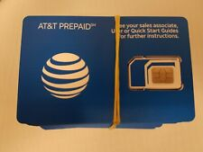 Lot Of 500 Brand New Prepaid At&T / Att 4G Lte Triple Sim Card 3 In 1