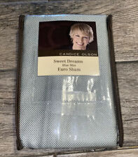 New One Candice Olson Sweet Dreams Blue Mist Euro Sham Pillow Sham Cover