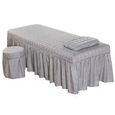 "Beauty Massage Table Valance Sheet Pillowcase Stool Cover 73x28"" Grey"
