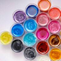4pcs/SET Metallic Pearl Pigment Powder for Epoxy Resin Floors Dye Mixed Color TR