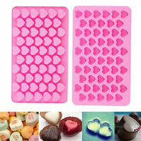 Silicone Mini 55 Heart Cake Chocolate Cookie Baking Mould Mold Jelly BakingTray