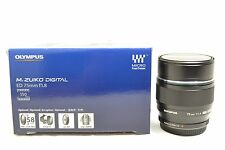 *Mint* Olympus M.Zuiko Digital 75mm F/1.8 ED Lens Black - 6 Month Warranty