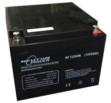 Neuton Power NP12260M 12V 26Ah AGM VRLA Sealed Lead Acid Battery