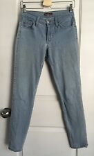 James Jeans Colored Light Blue Denim Mid Rise Skinny Jeans Dyed Slim Twiggy 27