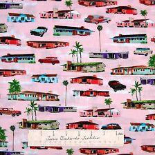Nautical Fabric - Times of Your Life Hotels Pink - Benartex Kanvas Studio YARD