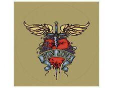 BON JOVI dagger heart CLEAR CIRCULAR official STICKER ex-tour merchandise