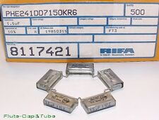 2pcs RIFA 1.5uF 100V Early Stage Metallized Polypropylene Film Capacitors.PHE241