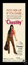 CHASTITY * ORIG MOVIE POSTER INS CHER BONO 1969 HIPPIE
