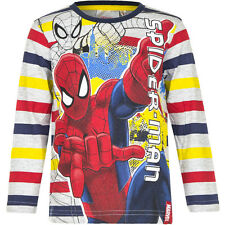 NEW Long Sleeves Jumper Boys Spiderman Pullover Blue Red Grey 98 104 116 128 #75