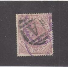 CEYLON # 142  VF-USED  1r 12c  1895-1900  QUEEN VICTORIA / CLARET  CAT VALUE $30