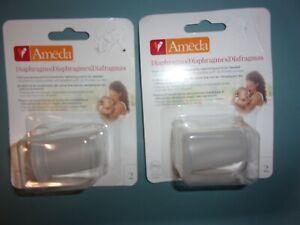 Lot of 2 packs Ameda Breast Pump Replacement Diaphragm 2-packs (4 Total) (C23)