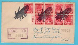 USA R cover fancy cancel corn 1928 Fairfield Iowa to Huntington