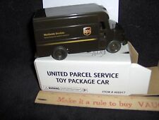 NEW~UPS~United Parcel Service~Pull Back Action Package Car~Delivery Truck