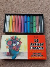 Artists Soft Pastels Boxed Ocaldo 12 artist pastels assorted colours used