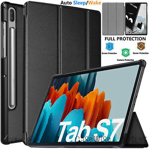 """Case For Samsung Galaxy Tab S7 Plus 12.4"""" SM-T970 SM-T976B Leather Smart Cover"""