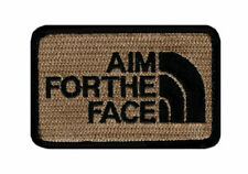 Aim for the Face Embroidered Morale Hook Fastener patch (3.0 x 2.0)