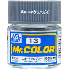 GSI Creos Gunze Mr Hobby Color Lacquer C13 Neutral Gray Paint 10ml