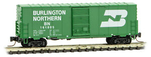 Micro-Trains MTL Z-Scale 40ft Standard Box Car Burlington Northern/BN #161805