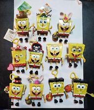 SpongeBob SquarePants Candy Buddy Dispenser Key Chain Ornament Lot Of 11