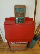 VICTOR VENDING MACHINE 5 CENT PEANUT/CANDY GUMBALL WOODEN RARE