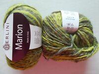 Berlini Marion alpaca/wool blend yarn, Lichen, lot of 2 (82 yds each)