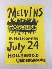 The Melvins - Gasoline - on July 24 at Hollywood Underground Concert Poster
