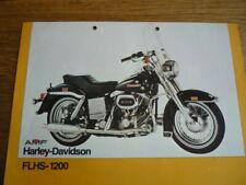 HARLEY DAVIDSON FLHS 1200 BROCHURE
