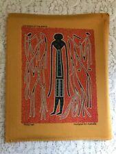 "Aboriginal Art Print Phillip Hall ""Gathering of the Spirits"" on Material"