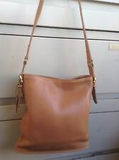 Authentic Coach Brown Leather Handbag Purse Shoulder-bag No J7C-9806 Made in U.S