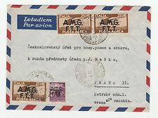 STORIA POSTALE 1948 TRIESTE 4 VALORI SU BUSTA DIRETTA A PRAHA TRIESTE 5/4 Z/3784