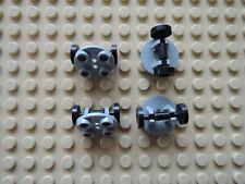Lego 4 x placa 2655 nuevo gris claro 2x2 aproximadamente + llanta 2496 10188 10159 4841 7637