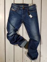 New Diesel Men's Jeans Zatiny 0679I Regular Bootcut Stretch Blue Christmas