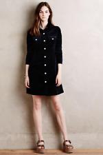 NWT Anthropologie Alexa Chung AG Pixie Corduroy Shirtdress Blue Cord 60s $325 XS