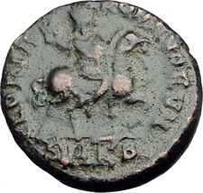 ARCADIUS on HORSE 392AD Constantinople Authentic Ancient Roman Coin i65187