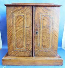 Gorgeous Miniature Cabinet Chest Bi-fold Front 3 Inner Drawers Parquetry inlays