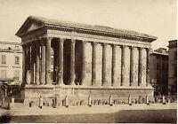 Francia Nîmes La Casa Quadrata Albumina Vintage Ca 1880